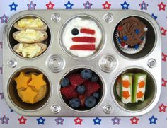 Red White and WOW muffin tin lunch