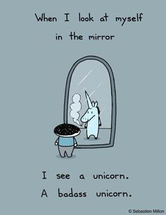 Here are some funny unicorn quotes - because unicorn humor is a truly terrific day brightener! The Words, Nerd, I Smile, Make Me Smile, Magic Creatures, Mythical Creatures, Funny Quotes, Funny Memes, Qoutes