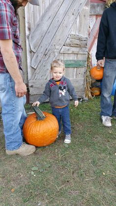 Proud of our pumpkin picking together!