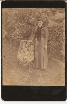 Woman with her Quilt or Coverlet