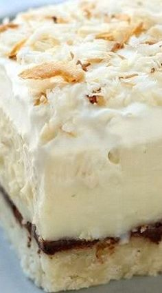Chocolate & Coconut Cream Pie Bars- These look and sound amazing but, a bit of work.