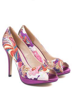 d1a47dbd5b1 Fresca Multi Print Platform Shoe in Purple Evening Shoes