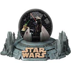 star wars snow globes | Wars Yoda vs. Darth Sidious Water Globe - Encore - Star Wars - Snow ...