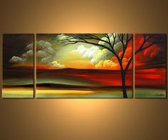 paintings clouds and landscape | Original Abstract Art - Modern Art and Landscape Paintings by Osnat ...