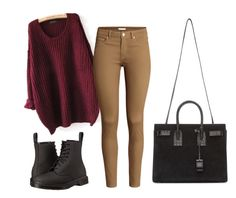 """""""Untitled #86"""" by somiakhan ❤ liked on Polyvore featuring H&M, Dr. Martens and Yves Saint Laurent"""