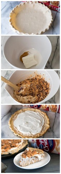 Easy Butterfinger Pie