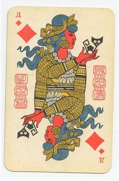 """Let the future tell the truth, and evaluate each one according to his work and accomplishments. The present is theirs; the future, for which I have really worked, is mine.""  -Nikola Tesla          (Soviet playing cards, Mayan design)"