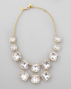 """Kate Spade """"On the town"""" crystal necklace"""