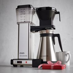 Technivorm Moccamaster Coffee Maker with Thermal Carafe, Polished Silver, available at #surlatable