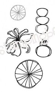 Stamping Bella Pie Charts have no Calories rubber stamp