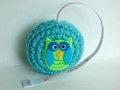 Owl Tape Measure Crochet and Felt Combination by stayhomecupcake, $10.00