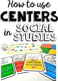 SOCIAL STUDIES ACTIVITIES- CENTERS Students engage in Social Studies through games, real life activities, reader's theatre and more! Find out more about using centers in the first grade classroom to make Social Studies more meaningful. 3rd Grade Social Studies, Kindergarten Social Studies, Social Studies Classroom, Social Studies Activities, First Grade Classroom, Teaching Social Studies, Group Activities, Elementary Social Studies, Group Games