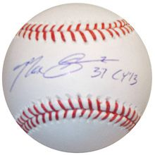 This Max Scherzer Cy Young Autographed Baseball would be a really cool gift for my #1 Detroit Tigers fan, Nik (my Grandson)  But it is pretty expensive @ $249.99.  Besides, I think he'd rather have an autographed baseball from Miguel Cabrara.
