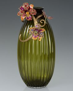 Jonah Lily Scroll Vase - Jay Strongwater