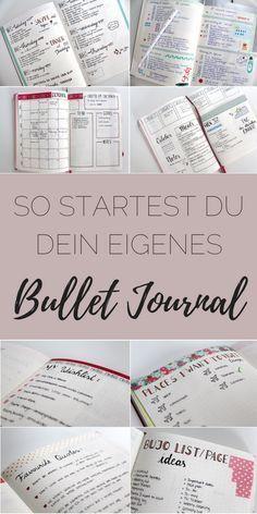 Du willst ein eigenes Bullet Journal? Erfahre hier was du dafür brauchst und erstelle dir ganz schnell dein eigenes!