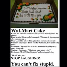 What else can you expect from Walmart? Not much..:-)