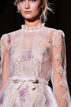 Valentino Spring 2012 sheer with a touch of lavender alternative wedding dress