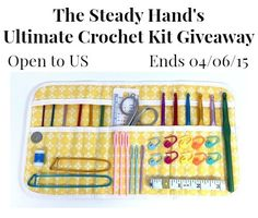 Enter this giveaway for your chance to win the Ultimate Crochet Kit with a Yellow Flowers Case. Open to US. Ends 04/06/15.