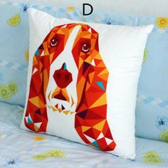 Owl throw pillow for couch creative geometric animal sofa cushions