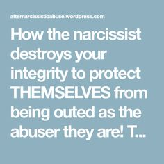 How the narcissist destroys your integrity to protect THEMSELVES from being outed as the abuser they are! The 'smear campaign' and those minions or flying monkeys or the Narcissist's pawns! – After Narcissistic Abuse