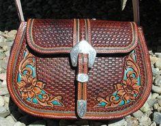 Stunning leather handbag from master craftsman Denice Langley