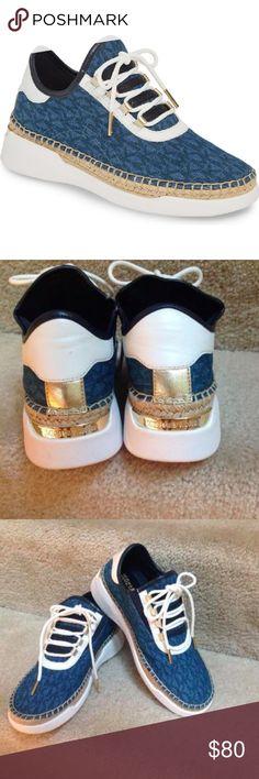 Michael Kors Finch Logo Denim Sneakers