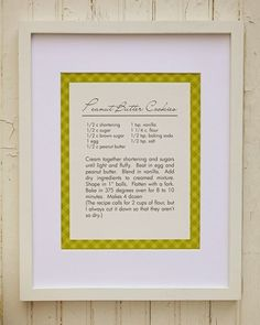 Custom Framed recipe