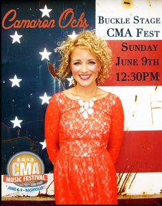 I played at #CMAFest this year!  So fun and can't wait for next year.  (Necklace courtesy of Stella & Dot) https://www.facebook.com/camaronochs  cam music