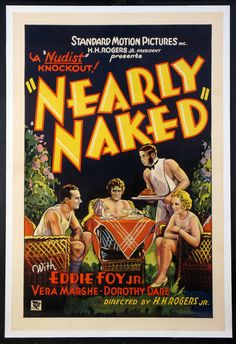 NEARLY NAKED (1933) Original one sheet size, 27x41 movie poster.