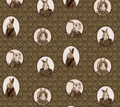 Antique Bunnies fabric by i_will_fly on Spoonflower - custom fabric