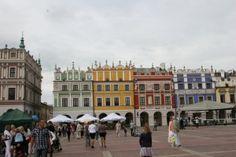 Zamość - Rynek Wielki. Fot. RMF FM Poland, Street View, Historia