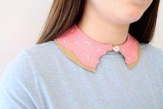 Super-Sweet Fashion: DIY Felt Donut Collar