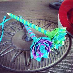 Duck tape flower pencils