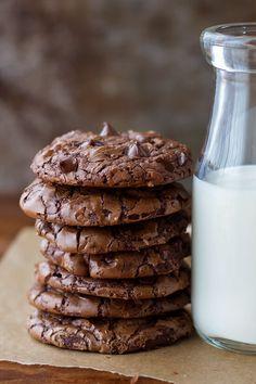 Best Fudgy Brownie Recipe, Brownie Recipes, Cookie Recipes, Dessert Recipes, Brownie Cookies, Chocolate Cookies, Nutella, Best Ever Brownies, Baking Power