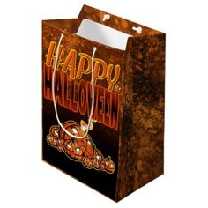 Happy Halloween Medium Gift Bag - Halloween happyhalloween festival party holiday