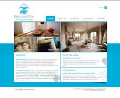 A clean and sleek website for a home decorating and staging company viewable at http://www.beforeandafterhso.com.au/