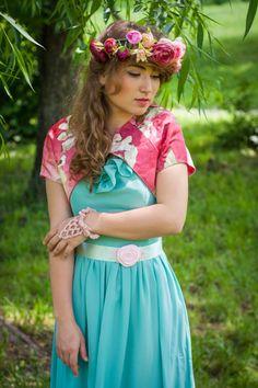 "Bolero ""Blossom Flowers"" (120 LEI la Nunny.sDiary.breslo.ro) Blossom Flower, Flowers, Vintage, Style, Fashion, Swag, Moda, Stylus, La Mode"