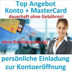 KONTO OHNE SCHUFA Girokonto und MasterCard ohne Schufa
