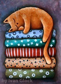 Modern Art Prints, Fine Art Prints, Canvas Prints, Frida Art, Image Chat, Cat Quilt, Cat Posters, Art Moderne, Cat Drawing