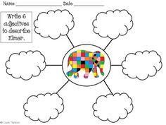 Elmer the Elephant Math and Literacy Integrated Unit Eyfs Activities, Kindergarten Activities, Book Activities, Elephant Book, Elephant Crafts, Elmer The Elephants, Tree Map, Book Study, Classroom Themes