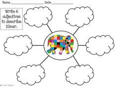 Elmer the Elephant Math and Literacy Integrated Unit Eyfs Activities, Kindergarten Activities, Book Activities, Elephant Book, Elephant Crafts, Elmer The Elephants, Tree Map, Book Study, Classroom Themes