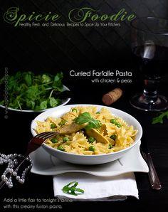 Curried Chicken Farfalle (Bow-Tie) Pasta @SpicieFoodie Healthy, Fresh ...