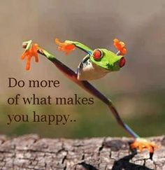 Do more of what makes you happy... (downloaded from Facebook)