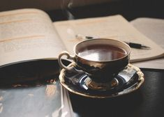 // cup of tea // Coffee And Books, Tea Art, Afternoon Tea, Hot Chocolate, Tea Time, Brewing, Tea Cups, At Least, Tumblr