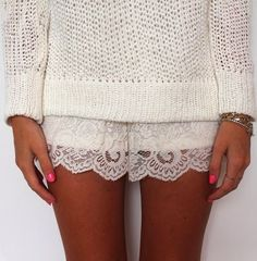 How to Chic: LACE SHORTS