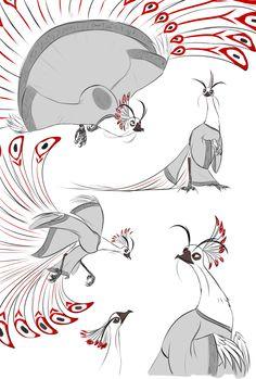 Some doodles again. Shen is my favorite bird character forever Kung Fu Panda, Character Art, Character Design, Panda Art, Zodiac Art, Anthro Furry, Dragon Art, Disney Fan Art, Psychedelic Art