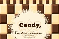 A listing of cute candy bar sayings and interesting quotes to get your sweet tooth going. Candy Bar Sayings, Candy Quotes, Cute Candy, Clever Quotes, Interesting Quotes, Jelly Beans, Bananas, Intelligent Quotes, Red Dates