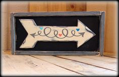 Rustic Wooden Arrow Wall Art, Wedding Directional Sign, Handmade Wood Sign, Bohemian Wall Hanging, Valentine's Day Gift