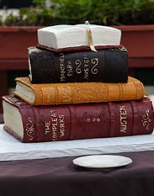 """Book Inspired Cakes...love! I want one of these!!! (to eat not to read even though the """"books"""" are very good books to read!)"""