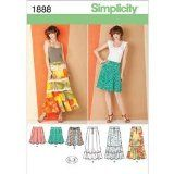 Simplicity 1888 Misses Skirts Sewing Pattern, Size U5 (16-18-20-22-24) - http://sewingpins.net/sewing/sewing-patterns/simplicity-1888-misses-skirts-sewing-pattern-size-u5-16-18-20-22-24/
